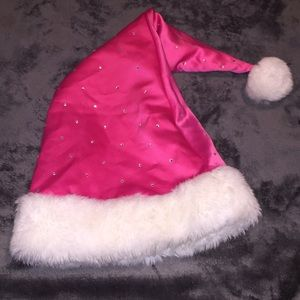 Pink Santa hat w/ rhinestones
